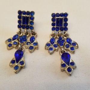 Blue Stone Fashion Dangle Earrings